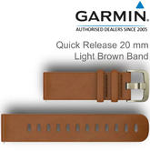 Garmin Quick Release Wrist Watch Strap Band | For Vivoactive 3-Vivomove HR | Leather