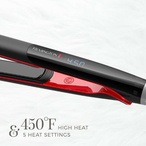 Remington Ultimate Glide Flat Iron Hair Straighteners | Travel Use | Black Red | S9700 Thumbnail 7