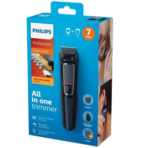 Philips Multigroom Series 3000 7-In-1 Face and Hair Grooming Kit | Black | MG3720/33 Thumbnail 5
