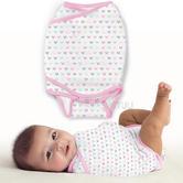Summer Infant SwaddleMe Kicksie Lots Of Love | Adjustable | Loop & Hook Closure | 0-3m