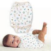 Summer Infant SwaddleMe Kicksie Baby Jungle | Adjustable | Loop & Hook Closure | 0-3m