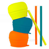 Boon SNUG Straw and Lid 3pk| Turns Your Cup Into a Sippy | Spill-Proof | Holds 9oz | +12m