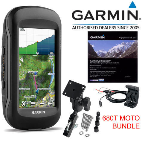 "Garmin Montana 680T MOTO 4"" Handheld GPS Navigator+Europe TOPO Maps   8MP Camera Thumbnail 1"