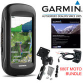 "Garmin Montana 680T MOTO 4"" Handheld GPS Navigator+Europe TOPO Maps 