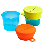 Boon SNUG Snack Multi 2Pk | Turn Your Cups Into Snack Containers | Hold 7oZ | +9months
