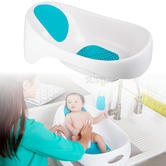 Boon SOAK 3-Stage Bathtub Blue/White | Adjustable Bump | Fits In Most Double Sinks | +18 Months