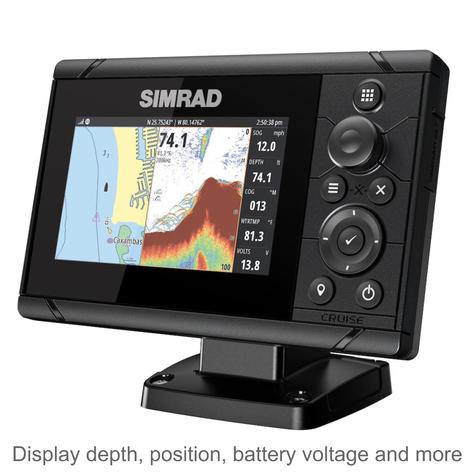 "Simrad Cruise 5 | 5"" Marine Plotter/Sounder with ROW Base Chart & 83/200 Transducer Thumbnail 2"