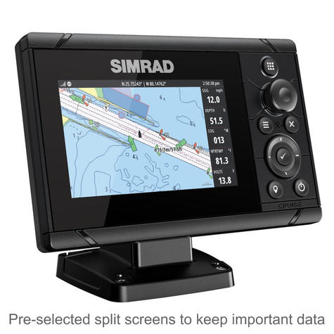 "Simrad Cruise 5 | 5"" Marine Plotter/Sounder with ROW Base Chart & 83/200 Transducer Thumbnail 3"