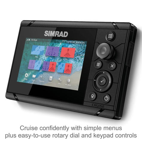 "Simrad Cruise 5 | 5"" Marine Plotter/Sounder with ROW Base Chart & 83/200 Transducer Thumbnail 5"