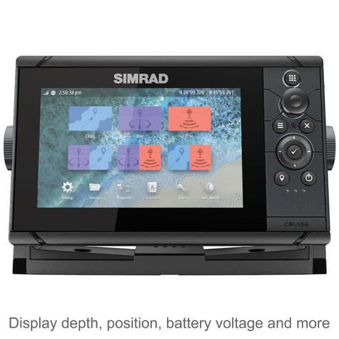 "Simrad Cruise 7 | 7"" Marine Plotter/Sounder with Base Chart & 83/200 Transducer Thumbnail 2"