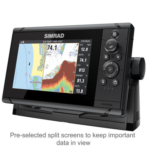 "Simrad Cruise 7 | 7"" Marine Plotter/Sounder with Base Chart & 83/200 Transducer Thumbnail 3"