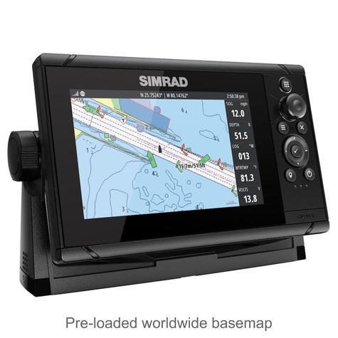 "Simrad Cruise 7 | 7"" Marine Plotter/Sounder with Base Chart & 83/200 Transducer Thumbnail 5"
