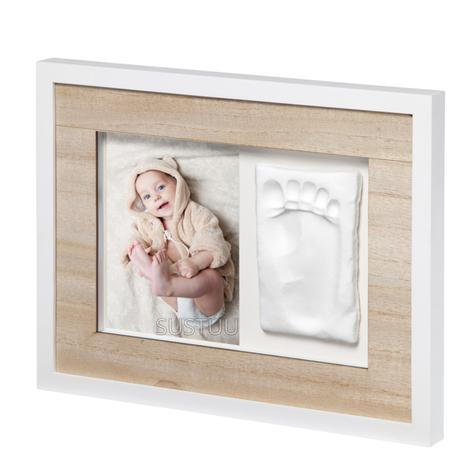 Baby Art Tiny Style Touch Single Frame Wooden | Gift For Christening & Newborn Thumbnail 1