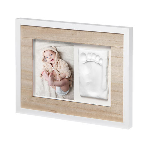 Baby Art Tiny Style Touch Single Frame Wooden | Gift For Christening & Newborn Thumbnail 2