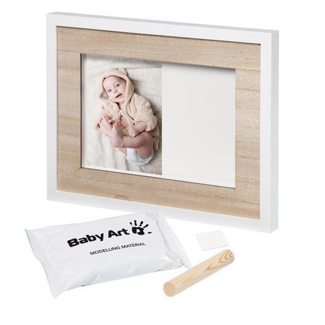 Baby Art Tiny Style Touch Single Frame Wooden | Gift For Christening & Newborn Thumbnail 3
