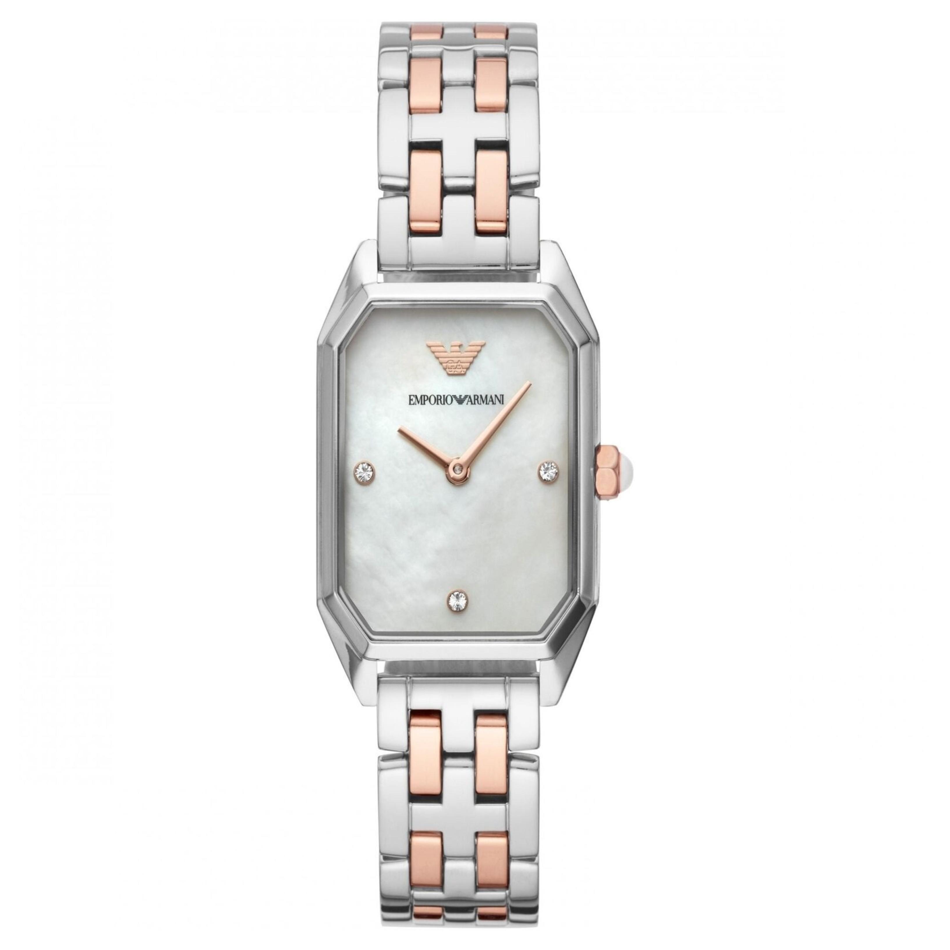 Emporio Armani Gioia Ladies Watch AR11146 | MOP Dial | Dual Tone Stainless Strap