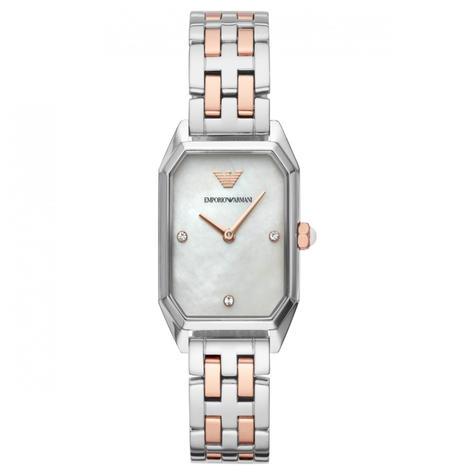 Emporio Armani Gioia Ladies Watch AR11146 | MOP Dial | Dual Tone Stainless Strap Thumbnail 1