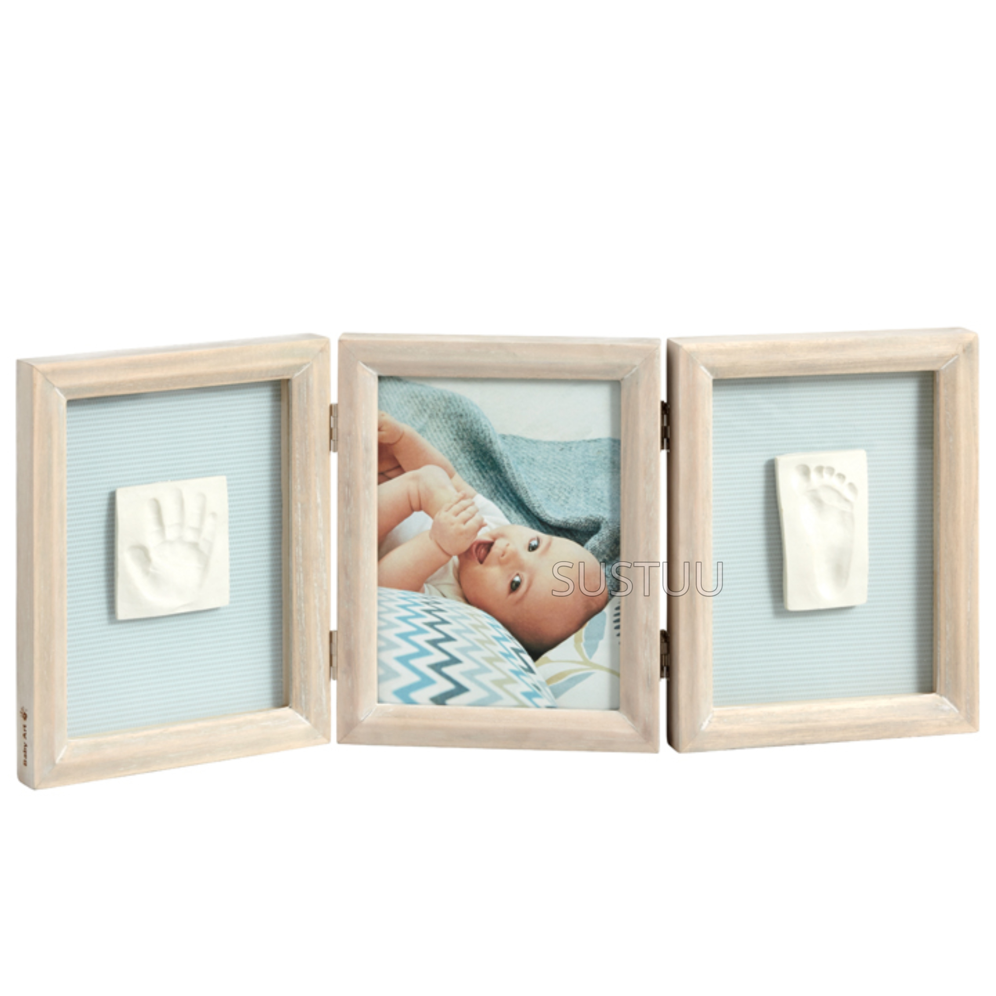 Baby Art My Baby Touch Double Print Frame Stormy | Giftware For Baby Shower+Birthdays