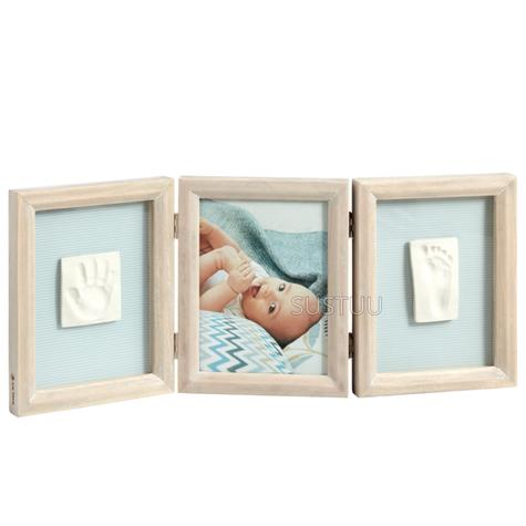Baby Art My Baby Touch Double Print Frame Stormy | Giftware For Baby Shower+Birthdays Thumbnail 1