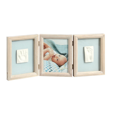 Baby Art My Baby Touch Double Print Frame Stormy | Giftware For Baby Shower+Birthdays Thumbnail 2