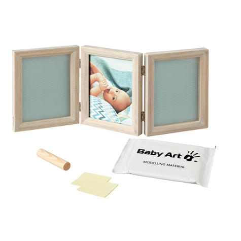 Baby Art My Baby Touch Double Print Frame Stormy | Giftware For Baby Shower+Birthdays Thumbnail 3