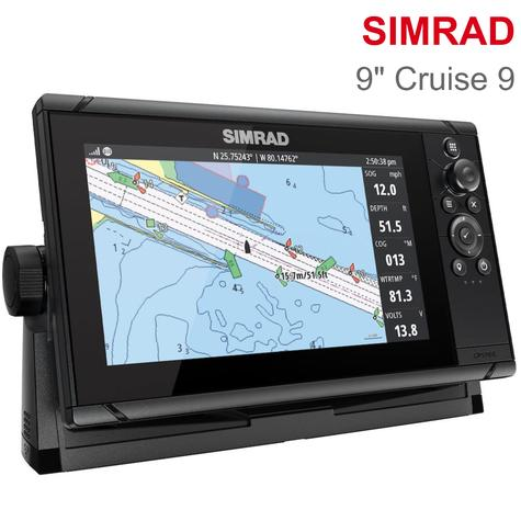 "Simrad Cruise 9 | 9"" Marine Plotter/Sounder with Base Chart & 83/200 Transducer Thumbnail 1"