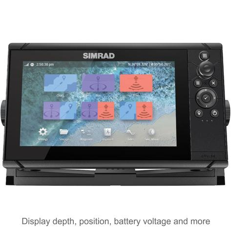 "Simrad Cruise 9 | 9"" Marine Plotter/Sounder with Base Chart & 83/200 Transducer Thumbnail 2"