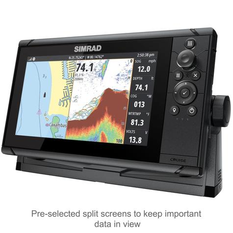 "Simrad Cruise 9 | 9"" Marine Plotter/Sounder with Base Chart & 83/200 Transducer Thumbnail 3"