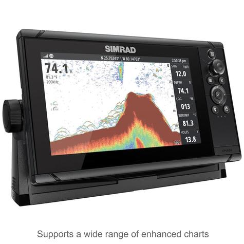 "Simrad Cruise 9 | 9"" Marine Plotter/Sounder with Base Chart & 83/200 Transducer Thumbnail 4"