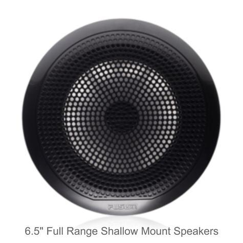 "Fusion EL-F651B 6.5"" 80W EL Series Shallow Mount Marine Speakers | IP65 | Black | Pair Thumbnail 2"