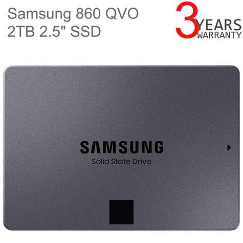 "Samsung 860 QVO 2TB 2.5"" SATA III SSD | Internal Solid State Drive | MZ-76Q2T0BW | For PCs Thumbnail 1"