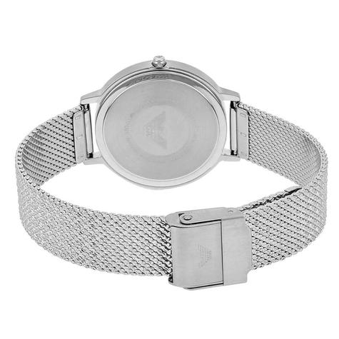 Emporio Armani Classic Ladies Watch AR11128 | Silver Dial | Mesh Stainless Strap Thumbnail 3