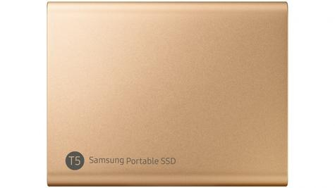 Samsung T5 500GB USB 3.1 Type-C Portable External SSD | Solid State Drive | For Desktops & Laptops | Rose Gold Thumbnail 2