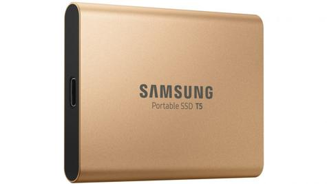 Samsung T5 500GB USB 3.1 Type-C Portable External SSD | Solid State Drive | For Desktops & Laptops | Rose Gold Thumbnail 3
