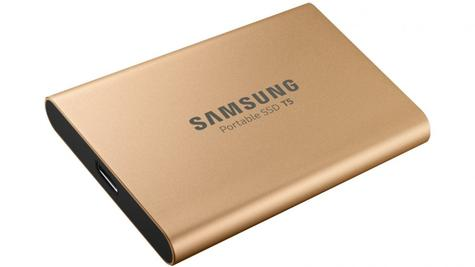Samsung T5 500GB USB 3.1 Type-C Portable External SSD | Solid State Drive | For Desktops & Laptops | Rose Gold Thumbnail 4