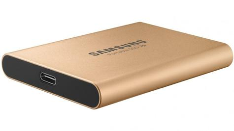 Samsung T5 500GB USB 3.1 Type-C Portable External SSD | Solid State Drive | For Desktops & Laptops | Rose Gold Thumbnail 5
