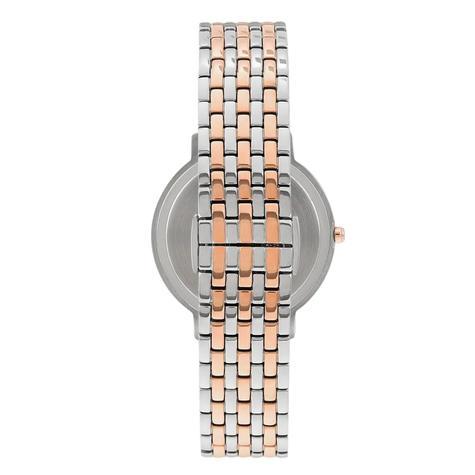 Emporio Armani Kappa Ladies Watch AR11113 | Floral Silver Dial | Dual Tone Strap Thumbnail 2