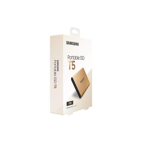 Samsung T5 1TB USB 3.1 Type-C Portable External SSD | Solid State Drive | For Desktops & Laptops | Rose Gold Thumbnail 6