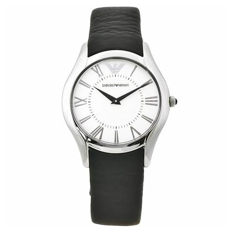 Emporio Armani Men's Formal Watch AR2021 | Roman Numeral Dial | Black Leather Strap Thumbnail 1