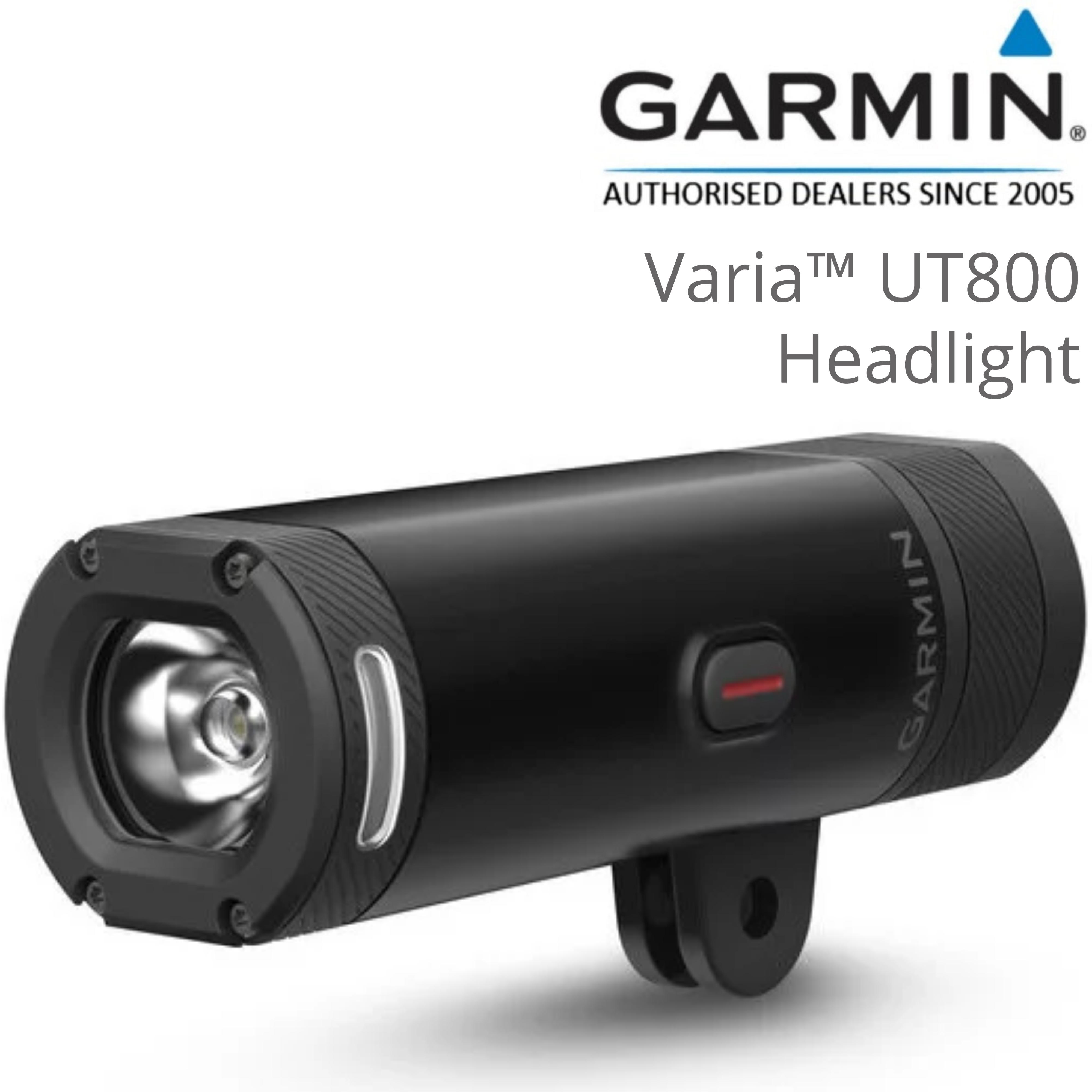 Garmin Varia UT800 Smart Cycling Headlight | Urban Edition | Bike Mounting | 1.6 km