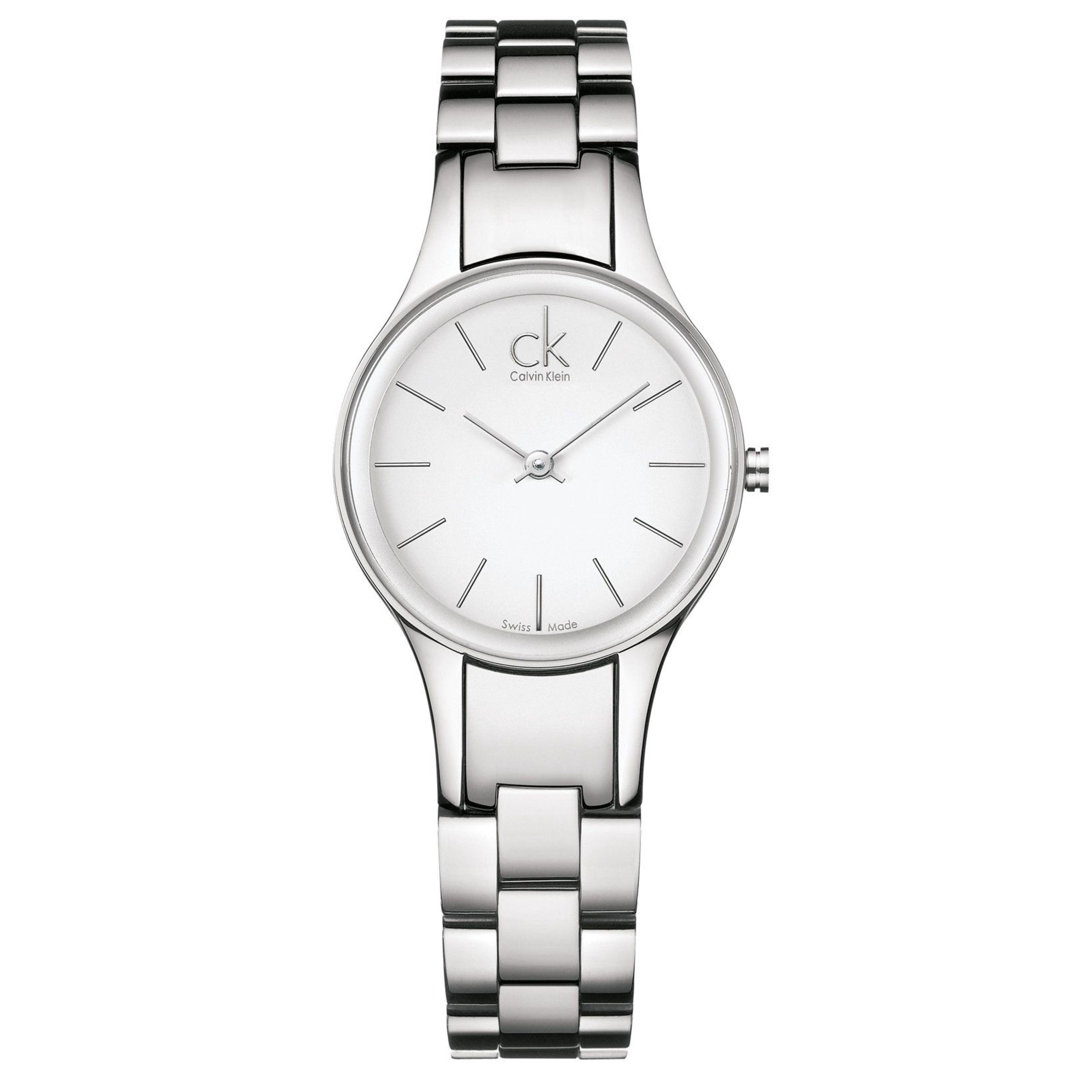 Calvin Klein Simplicity Ladies Watch K4323126 | White Round Dial | Stainless Steel