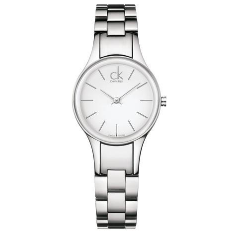 Calvin Klein Simplicity Ladies Watch K4323126 | White Round Dial | Stainless Steel Thumbnail 1