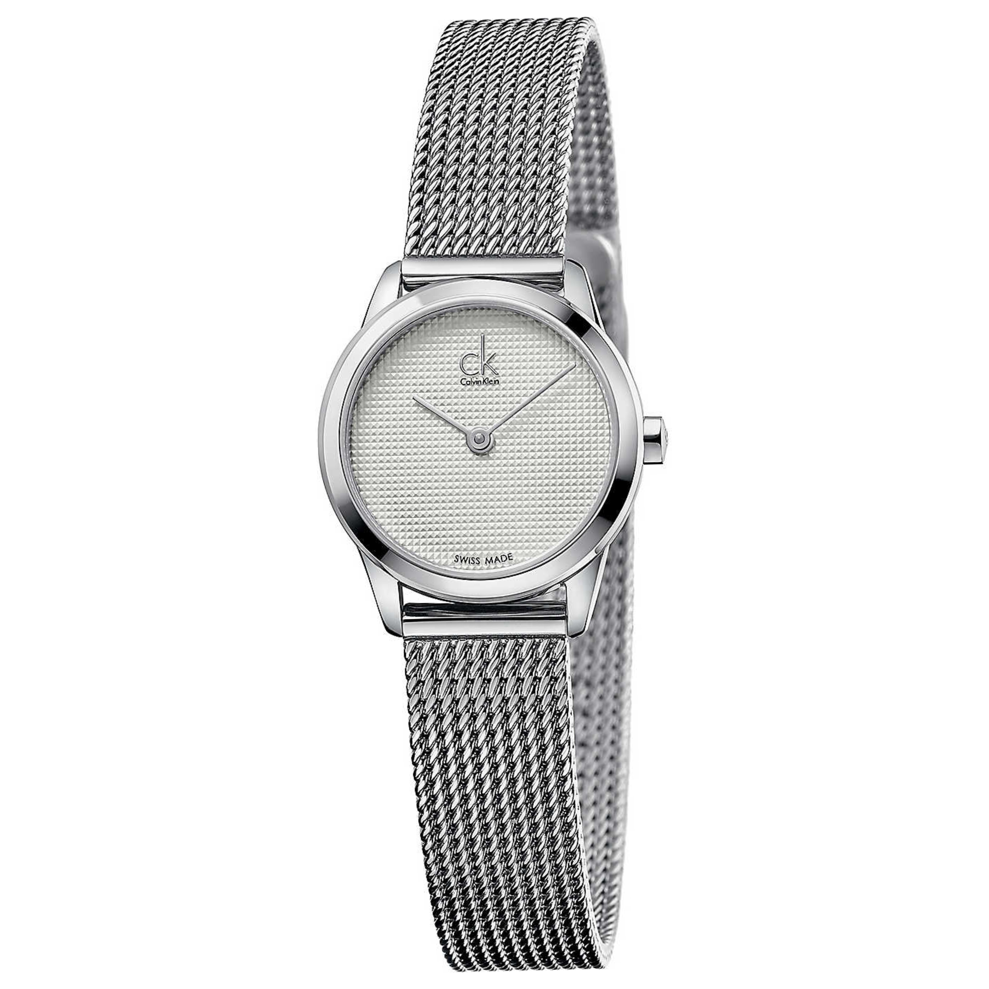 Calvin Klein Minimal Ladies Watch K3M2312Y | Silver Dial | Stainless Mesh Strap