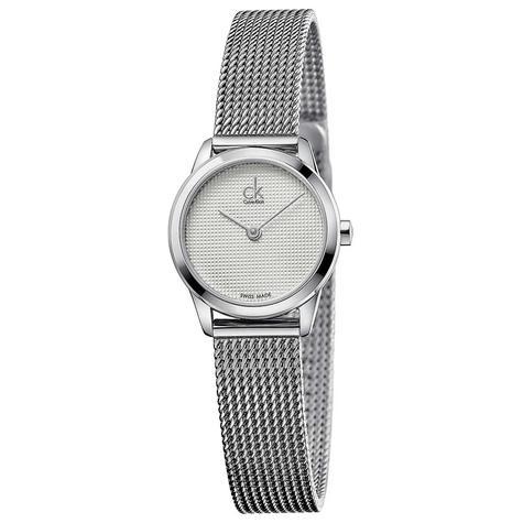 Calvin Klein Minimal Ladies Watch K3M2312Y | Silver Dial | Stainless Mesh Strap Thumbnail 1