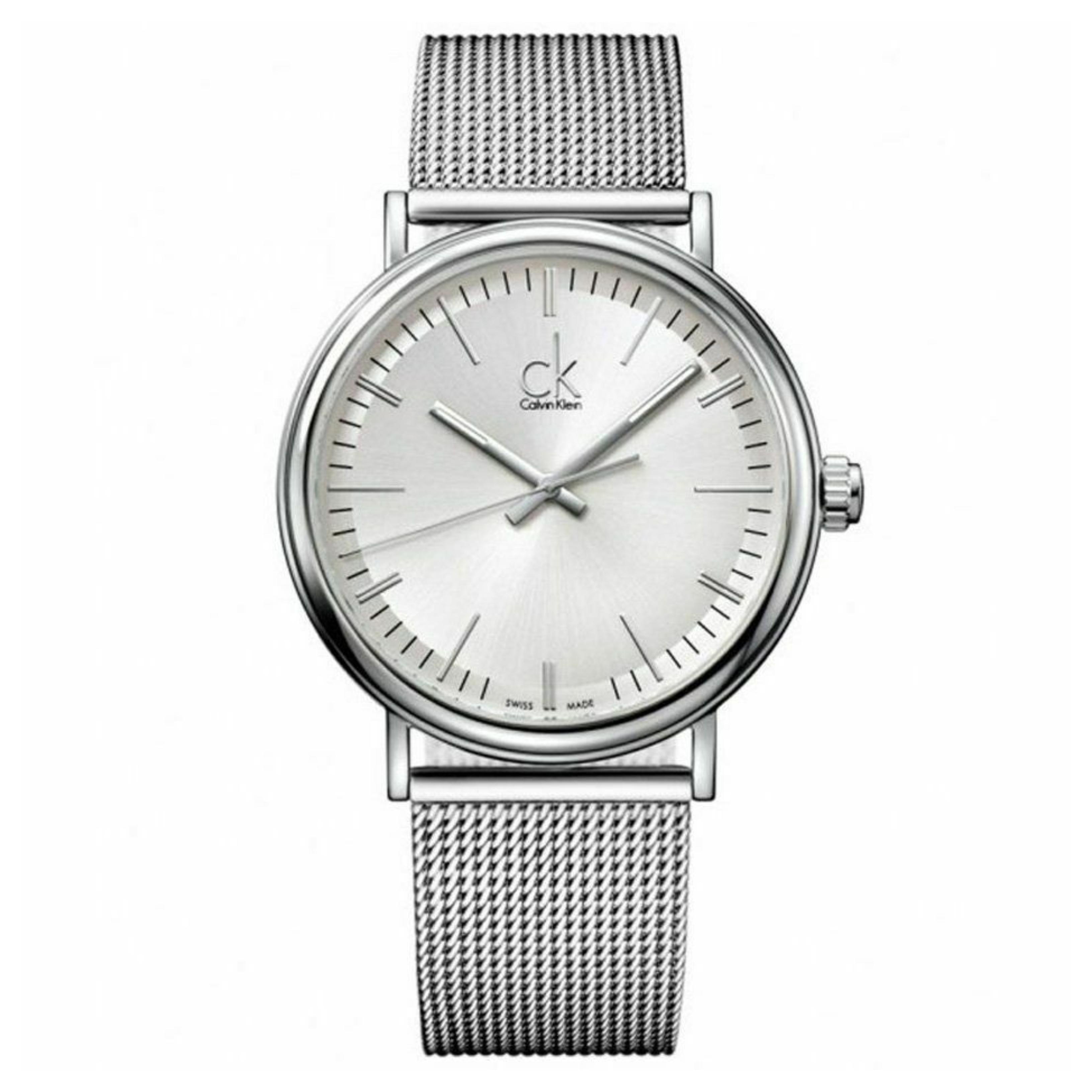 Calvin Klein Surround Men's Watch K3W21126 | Silver Dial | Stainless Mesh Strap