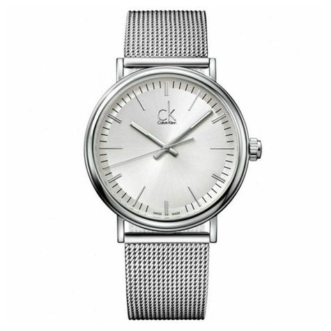Calvin Klein Surround Men's Watch K3W21126 | Silver Dial | Stainless Mesh Strap Thumbnail 1