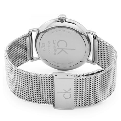 Calvin Klein Surround Men's Watch K3W21126 | Silver Dial | Stainless Mesh Strap Thumbnail 2