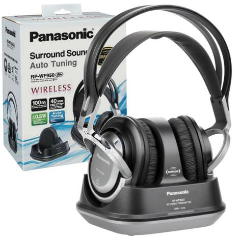 Panasonic RPWF950EBS|Wireless|Cordless|Over Ear Headphones|Charging Stand|Silver Thumbnail 1
