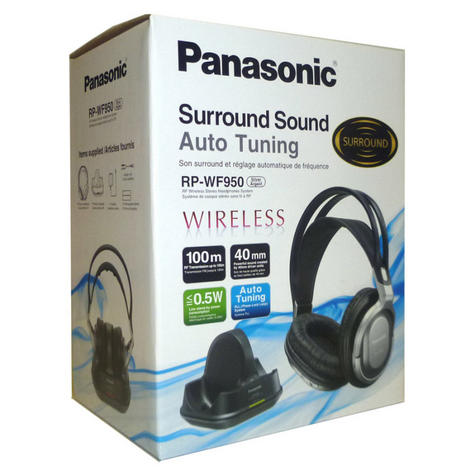 Panasonic RPWF950EBS|Wireless|Cordless|Over Ear Headphones|Charging Stand|Silver Thumbnail 5