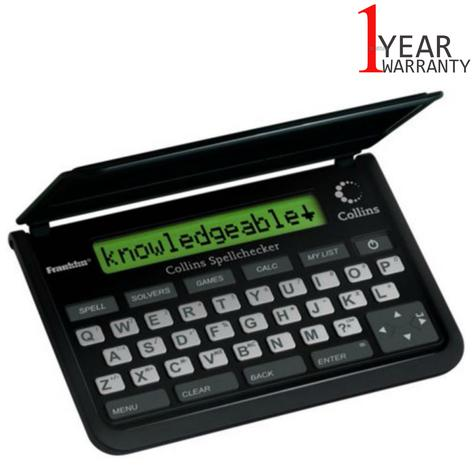 Franklin Collins Pocket Electronic Spell Checker | Crossword Solver | Black | SPQ109 Thumbnail 1
